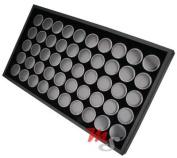 50 Jar Body Jewellery Display Tray Black Tongue Navel Lip