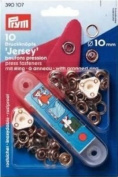 PRYM 390107 Press fasteners 'Jersey' Size 10mm ring silver-coloured, 10 pieces