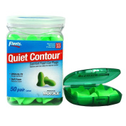 Flents Contour Ear Plugs - Soft Comfort! 50 Pair with Flents Green Ear Plug Case