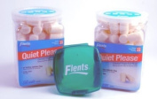 Sleep better naturally - 2 Pack Flents Quiet! Please Noise Reducing Ear Plugs with (Free Green Flents Container - A 4.98 Value)- Total 100 Pair - NRR 29