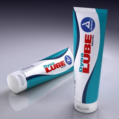 DynaLube Sterile Lubricating Jelly, 120ml Flip-Top Tube 12/cs