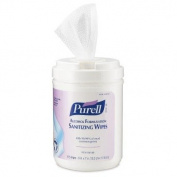 Pre-moistened Sanitising Wipes in White