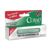 Curad Silver Solution Antimicrobial Gel, 1/60ml Tube