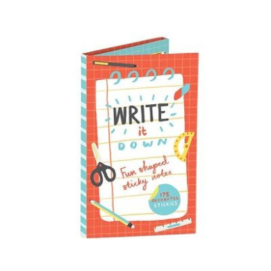 Write It Down Fun Shaped Sticky Notes: 175 Decorated Stickies