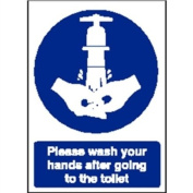 Now Wash Your Hands Sign Self adhesive vinyl. 300 x 200mm.