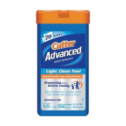 Cutter Advanced Wipes with 5.75% Picaridin, 20 Count