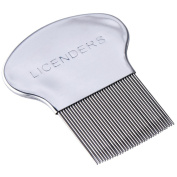 Lice Comb, Professional Lice Comb, Stainless Steel Lice Comb, Lice Comb for Head Lice Treatment Removes Lice and Nits, by Licenders