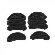 Men Replacement Shoes Repair Black Plastic Heels 8 Pcs