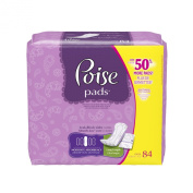 Poise Moderate Absorbency Pads, Long, Pack of 84
