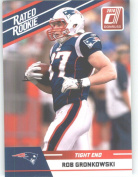 2010 Donruss Rated Rookies Football Card # 84 Rob Gronkowski - New England Patriots (RC - Rookie Card) NFL Trading Card!