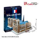 """CubicFun 3D Puzzle C-Series """"Notre Dame de Paris - Paris"""""""