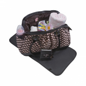Baby Essentials Large Satchel Diaper Bag with Brag Book - Pink / Brown