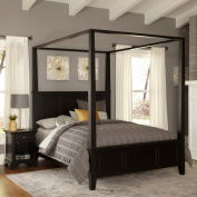 Home Styles Bedford White Queen Canopy Bed