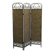 3 Panel Room Divider - Antique Gold