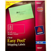 Avery Shipping Labels, 5.1cm x 10cm , Clear, 100-Count