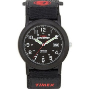 Timex® Expedition Camper Fast-Strap Watch - Black/Red