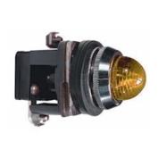 30mm Pilot Light, Metal, 110VAC/VDC, LED, Amber