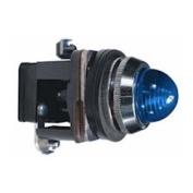 30mm Pilot Light, Metal, 110VAC/VDC, LED, Blue