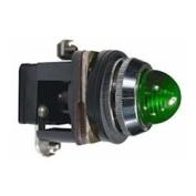 30mm Pilot Light, Metal, 24VAC/VDC, LED, Green