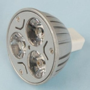 3*1W MR16 GU5.3 LED Light Bulb 3W 12V - Warm White
