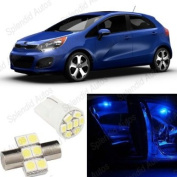 Ultra Blue LED Kia Rio Hatchback Interior Package Deal 2012 and Up
