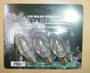 Fdl 3 Warm White Led E12 Screw In Tulip Bulbs -12v Indoor/outdoor Use