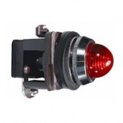 30mm Pilot Light, Metal, Red, 110VAC/VDC LED
