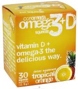 Coromega Omega3 Squeeze with Vitamin D3, Tropical Orange, 30 Count