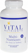 Vital Nutrients Multi-Nutrients no Iron or Iodine 180 Capsules