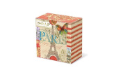 Punch Studio Everyday Pleat-Wrapped Boxed Soaps-Patchwork Paris 50051
