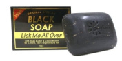 Original African Black Soap w/ Shea Butter & Cocoa Butter, Lick Me All Over 150ml - 6 Pack
