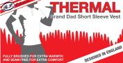 3 Mens Thermal Underwear Grandad Short Sleeve Vest
