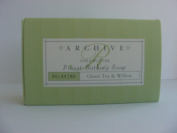 Archive Green Tea & Willow Relaxing Bath Soap lot of 12 Each 70ml bars with Shea Butter. Total of 800ml