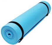 Camp Camping Roll Up Foam Foil Sleeping Mat Mattress Tent Exercise Yoga Festival - Blue