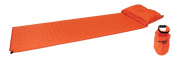 Yellowstone Self Inflating Mat with Pillow and Dry Sac - Orange