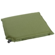 Self Inflatable Camping Seat Foam Mat Hiking Outdoor Festival 35x32cm Olive