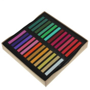 48 Colours Non-toxic Temporary Pastel Square Hair Chalks