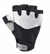 Vaude Cristallo Climbing gloves Half Finger white/black