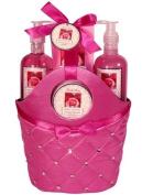 Morgan Avery Bath and Body Satin Rhinestone Bag Gift Set