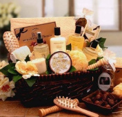 Vanilla Therapy Bath and Body Spa Basket for Women - Mothers Day Gift Idea for Her