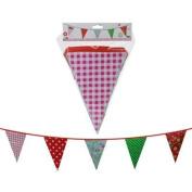 Fun Garden Party Vintage Print Plastic Bunting 10 Metres ~ 20 Pennant Flags - Suitable For Indoor Or Outdoor Use