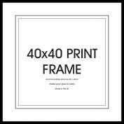 GB Eye Art Print Frame, 40 x 40cm, Black
