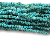 Pretty Pebbles Beads - 90cm Blue Turquoise Gemstone Chip Beads