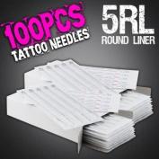 100pcs 5RL Disposable Sterile Tattoo Needles 5 Round Liner Supply Set