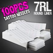 100pcs 7RL Disposable Sterile Tattoo Needles 7 Round Liner Supply Set