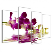 Picture - art on canvas spa length 130cm height 80cm , four-part parts model no. XXL 6132 Pictures completely framed on large frame. Art print Images realised as wall picture on real wooden framework. A canvas picture is much less expensive ..
