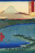 3 Reproduction Japanese Woodblock Mount Fuji Prints by Ando Utagawa Hiroshige Canvas Textured Paper Print