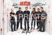 Dexter Poster Photo Season 8 21cm x 29.7cm A4 Signed PP by Michael C. Hall Jennifer Carpenter David Zayas