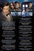 A Superb Dr Who Maxi Poster with 24 Hilarious Quotes from Matt Smith 61x91.5cm