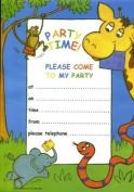Jungle Party Invitations - 20 Sheets & Envelopes